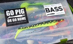 """Picture of Sticker - """"Pig Shad - Hot Pike"""""""
