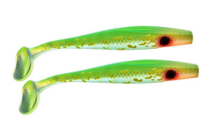 Picture of Pig Shad Jr - Transparent Hot Pike - 2 pack