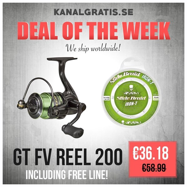 Picture of Gunki GT FV Reel 200 INCLUDING LINE
