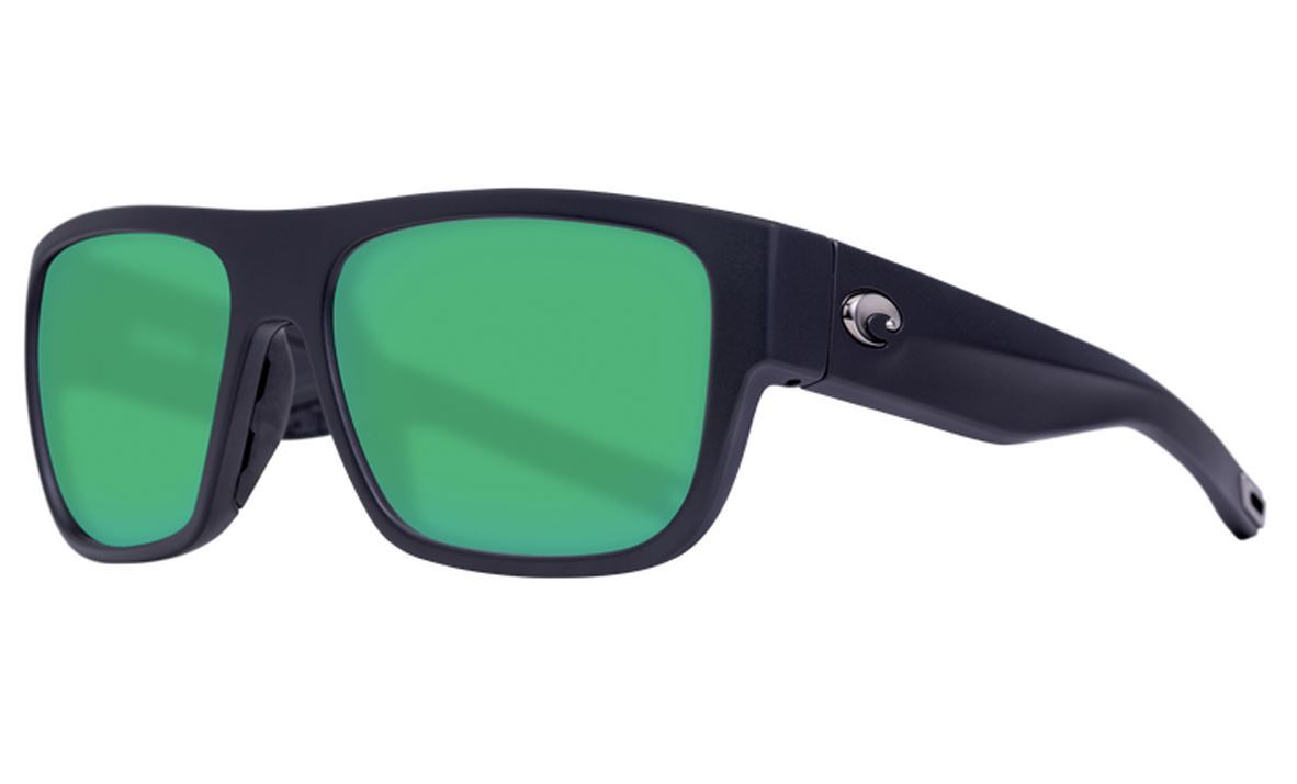 Picture of Costa SAMPAN matte black - green mirror 580P