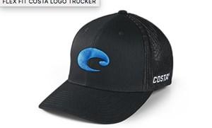 Picture of COSTA FLEX FIT LOGO TRUCKER HAT BLACK