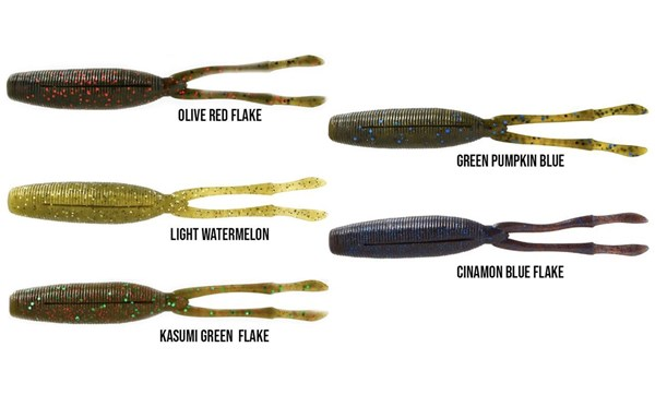 Picture of Megabass TK Twister 4,5'' 11cm 5-pack