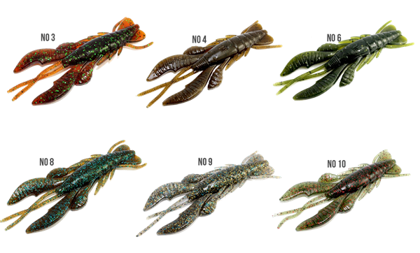 Picture of Lurefans Force Craw 10cm 6-pack