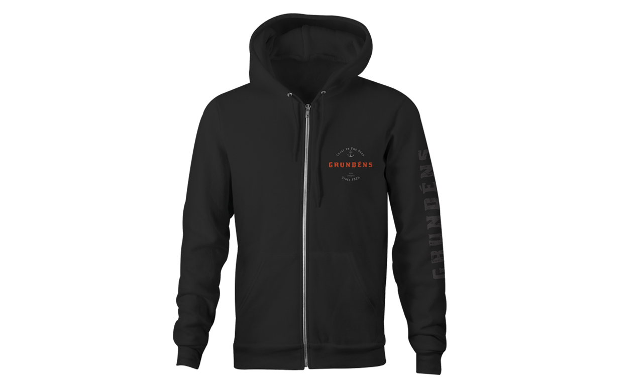 Picture of Grundéns Rope Knot FZ Hoodie Black