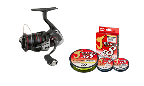 Picture of Shimano Vanford spinning reel with line (perch)