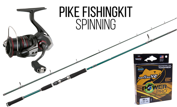 Picture of High-end Pike Fishingset Spinning (Beast X and Shimano Vanford)