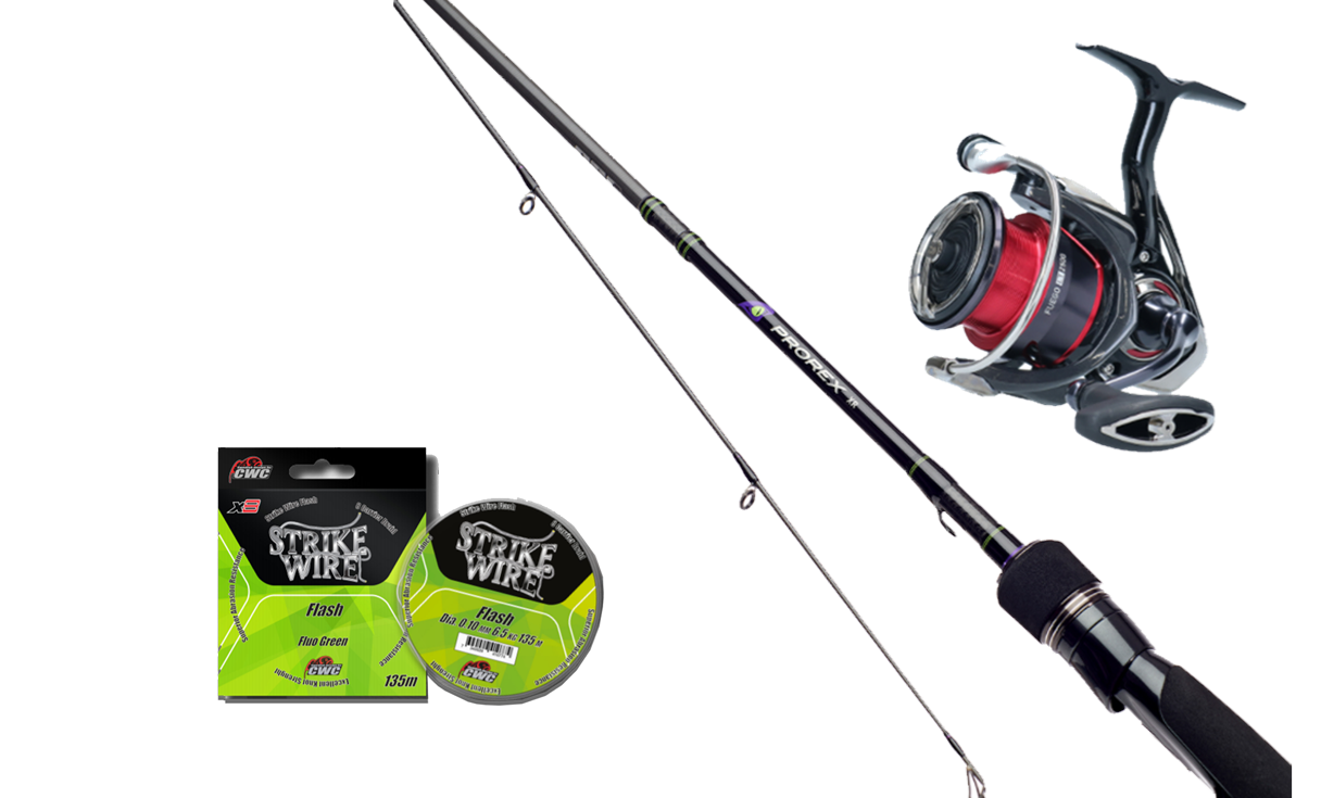 Picture of Daiwa Prorex Perch Spinning kit!