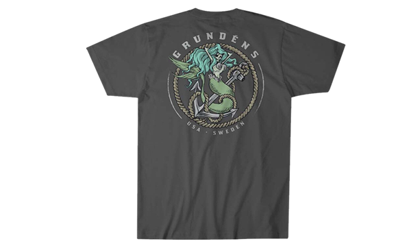 Picture of Grundéns Mermaid SS T-Shirt  Iron Grey